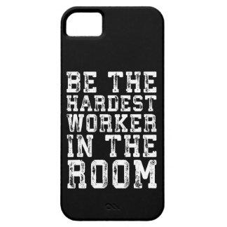 Capa Barely There Para iPhone 5 O trabalhador o mais duro na sala - inspirada
