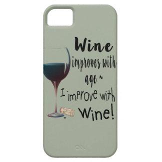 Capa Barely There Para iPhone 5 O vinho melhora com idade que eu melhoro com