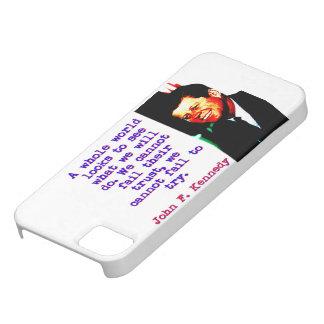 Capa Barely There Para iPhone 5 Olhares inteiros de um mundo - John Kennedy
