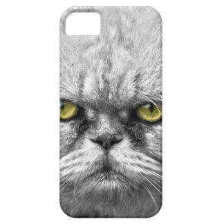 Capa Barely There Para iPhone 5 Olhos de gato dourados irritados