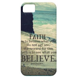 Capa Barely There Para iPhone 5 Onda de oceano da praia das citações da fé