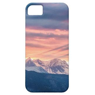 Capa Barely There Para iPhone 5 Ondas do por do sol da montanha rochosa de