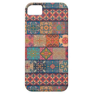 Capa Barely There Para iPhone 5 Ornamento de talavera do mosaico do vintage