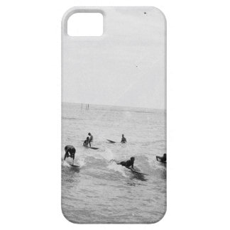 Capa Barely There Para iPhone 5 Os surfistas em Waikiki encalham, Havaí, foto do