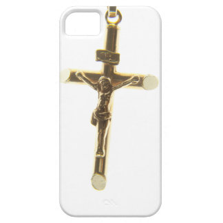 Capa Barely There Para iPhone 5 Ouro transversal do Jesus Cristo horizontal