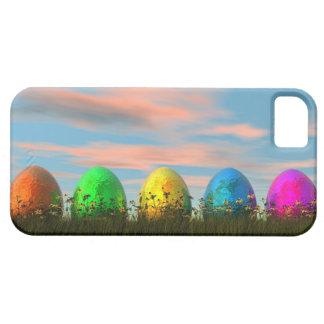 Capa Barely There Para iPhone 5 Ovos coloridos para a páscoa - 3D rendem