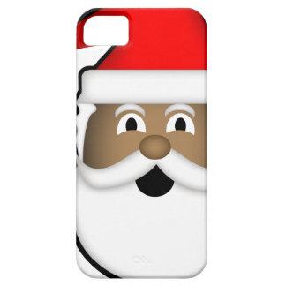 Capa Barely There Para iPhone 5 Papai noel preto alegre