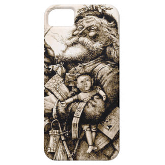 Capa Barely There Para iPhone 5 Papai noel velho alegre