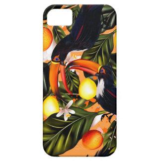 Capa Barely There Para iPhone 5 Paraíso tropical. Toucans e citrino