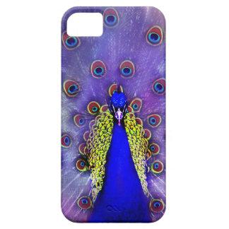 Capa Barely There Para iPhone 5 Pássaro Pastel do azul de pavão