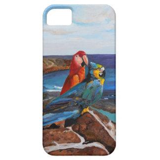 Capa Barely There Para iPhone 5 Pássaros tropicais que negligenciam a baía