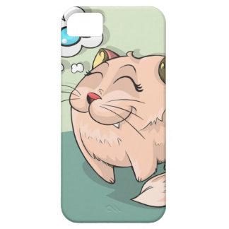 Capa Barely There Para iPhone 5 Peixes animais do gato que pensam o animal de