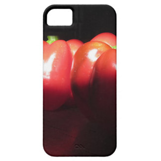 Capa Barely There Para iPhone 5 Pimentas vermelhas iluminadas pela luz do sol na