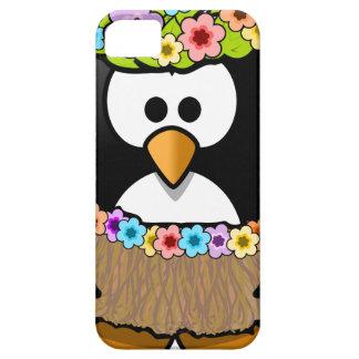Capa Barely There Para iPhone 5 Pinguim havaiano com flores e saia de grama