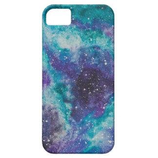 Capa Barely There Para iPhone 5 Pintura da galáxia da aguarela