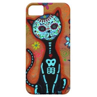 CAPA BARELY THERE PARA iPhone 5 PINTURA DO EL GATO DIÂMETRO DE LOS MUERTOS CAT