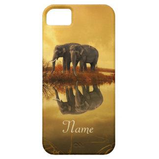 Capa Barely There Para iPhone 5 Por do sol dos elefantes