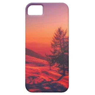 Capa Barely There Para iPhone 5 Por do sol nevado da noite
