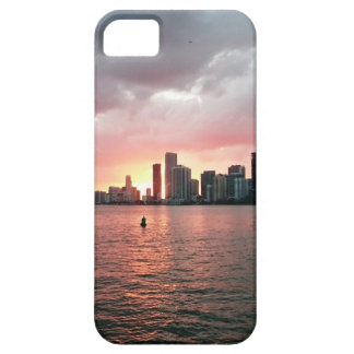 Capa Barely There Para iPhone 5 Por do sol sobre Miami
