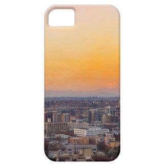 Capa Barely There Para iPhone 5 Portland OU arquitectura da cidade e por do sol de