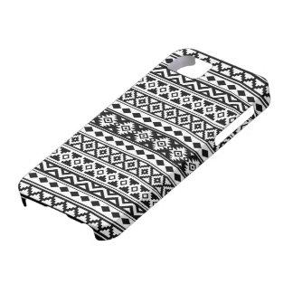 Capa Barely There Para iPhone 5 Preto & branco astecas de IIb do teste padrão da