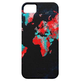 Capa Barely There Para iPhone 5 preto vermelho do mapa do mundo