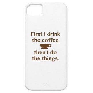 Capa Barely There Para iPhone 5 Primeiramente eu bebo o café