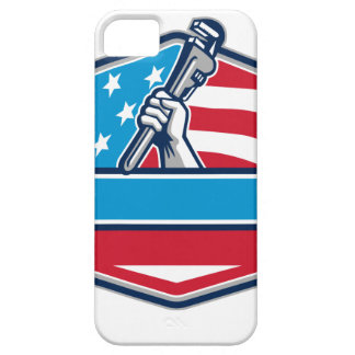 Capa Barely There Para iPhone 5 Protetor da bandeira dos EUA da chave de tubulação