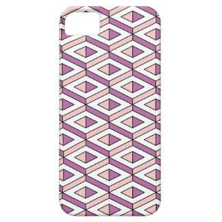 Capa Barely There Para iPhone 5 quartzo cor-de-rosa da geometria 3d