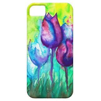 Capa Barely There Para iPhone 5 Quebra-cabeça das tulipas
