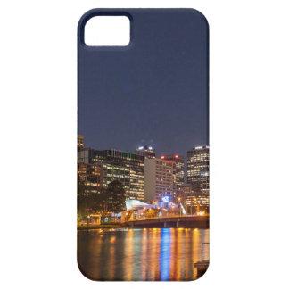 Capa Barely There Para iPhone 5 Rio de Melbourne Yarra na noite
