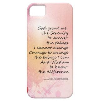 Capa Barely There Para iPhone 5 Rosa da cerca 3 do marmelo da oração da serenidade