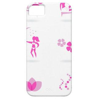 Capa Barely There Para iPhone 5 Rosa dos ícones do bem-estar