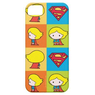 Capa Barely There Para iPhone 5 Rotação do caráter de Chibi Supergirl