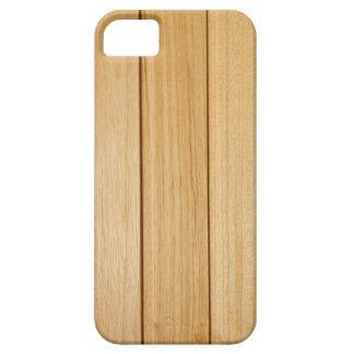 Capa Barely There Para iPhone 5 SE de madeira do iPhone dos azulejos+caso 5/5S