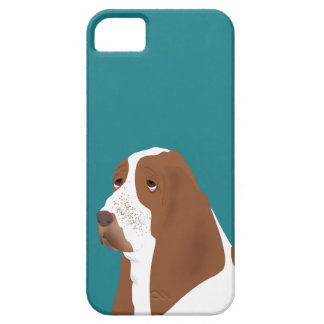 Capa Barely There Para iPhone 5 SE do iPhone de Basset Hound + iPhone 5/5S, mal lá