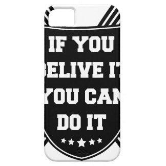 Capa Barely There Para iPhone 5 Se você belive ele você pode o fazer