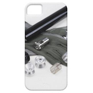 Capa Barely There Para iPhone 5 Silenciador do supressor da arma de fogo com luvas