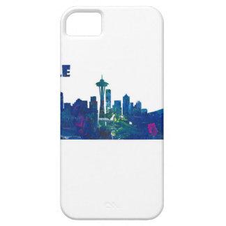Capa Barely There Para iPhone 5 Silhueta da skyline de Seattle