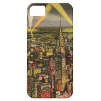 Capa Barely There Para iPhone 5 Skyline da Nova Iorque do vintage