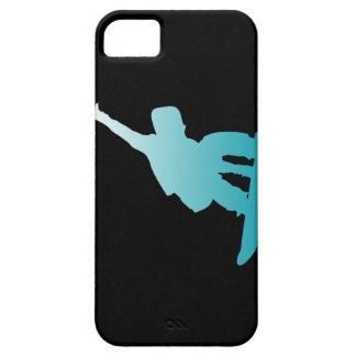 Capa Barely There Para iPhone 5 snowboarder do azul do inclinação
