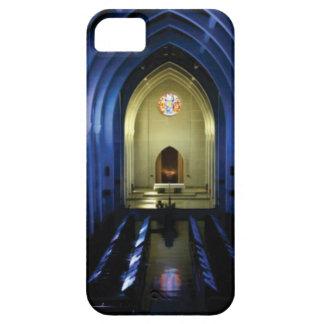 Capa Barely There Para iPhone 5 sombras da igreja azul escuro