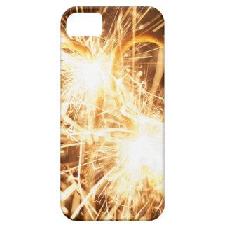 Capa Barely There Para iPhone 5 Sparkler ardente no formulário de um coração
