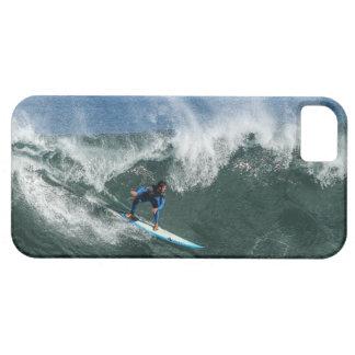 Capa Barely There Para iPhone 5 Surfista na prancha azul e branca