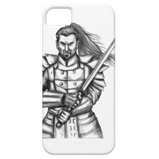Capa Barely There Para iPhone 5 Tatuagem da posição da luta do guerreiro do