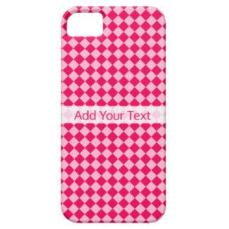 Capa Barely There Para iPhone 5 Teste padrão cor-de-rosa do diamante da combinação