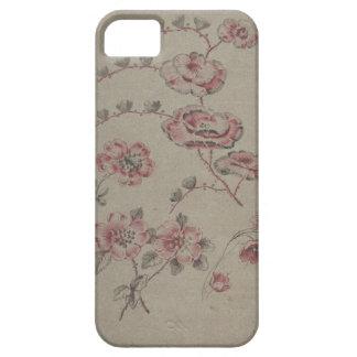 Capa Barely There Para iPhone 5 Teste padrão de flor cor-de-rosa - francês
