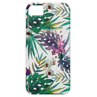 Capa Barely There Para iPhone 5 Teste padrão de flor tropical