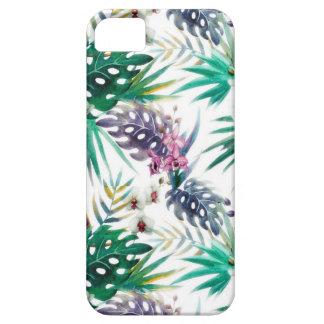 Capa Barely There Para iPhone 5 Teste padrão de flor tropical brilhante
