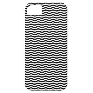 Capa Barely There Para iPhone 5 Teste padrão de onda preto branco - fundo